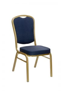 Aluminium Banqueting Chair in Blue